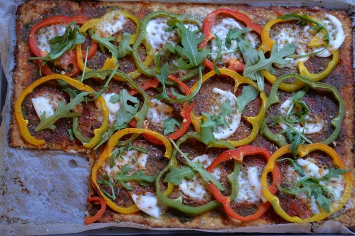 Pesto Pepper CauliflowerPizza
